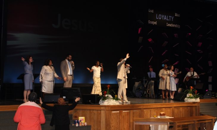 Sunday morning praise and worship at Rock City Church.
